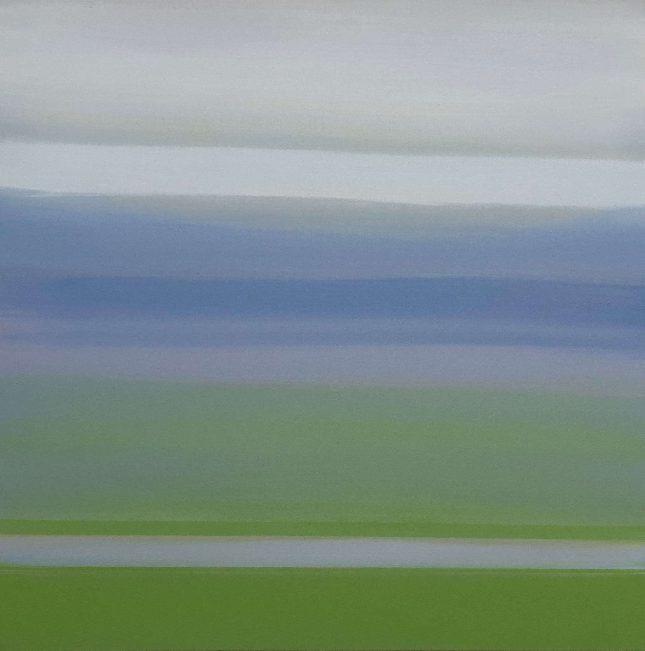 Skagit III, Mixed Media on Canvas, 30 x 30