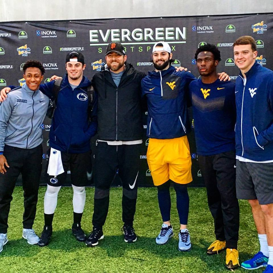 Paul with Trace McSorley, Will Grier, Brandon Polk, Gary Jennings, and David Sill V