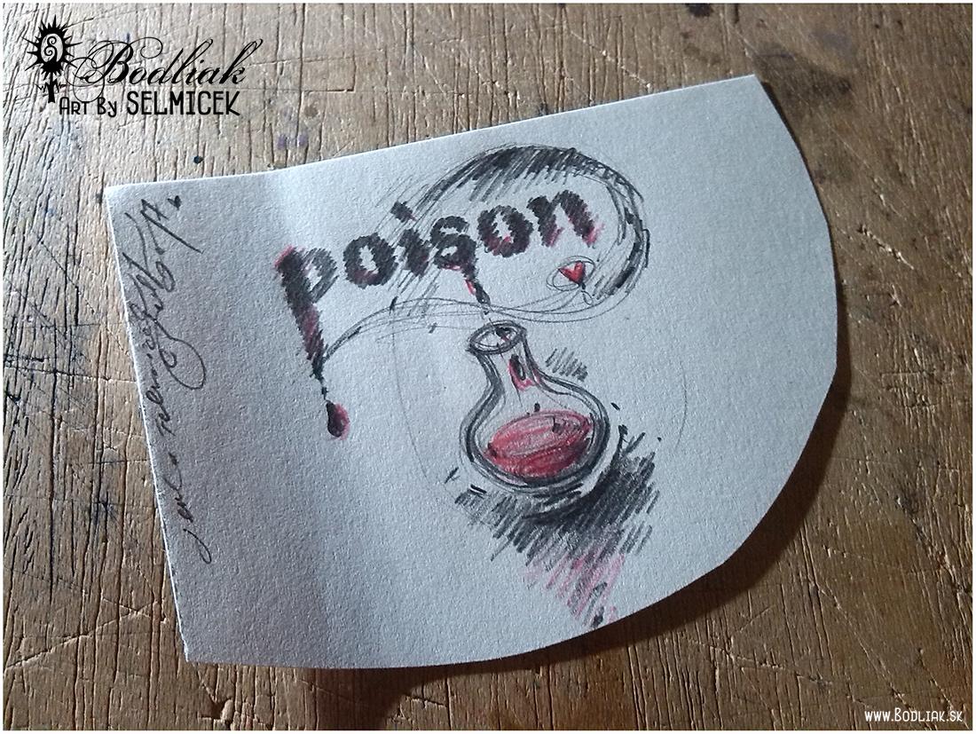 Poison   autor: Selmicek  9cm x 7cm ... cena za tetovanie v danej veľkosti 50,- eur
