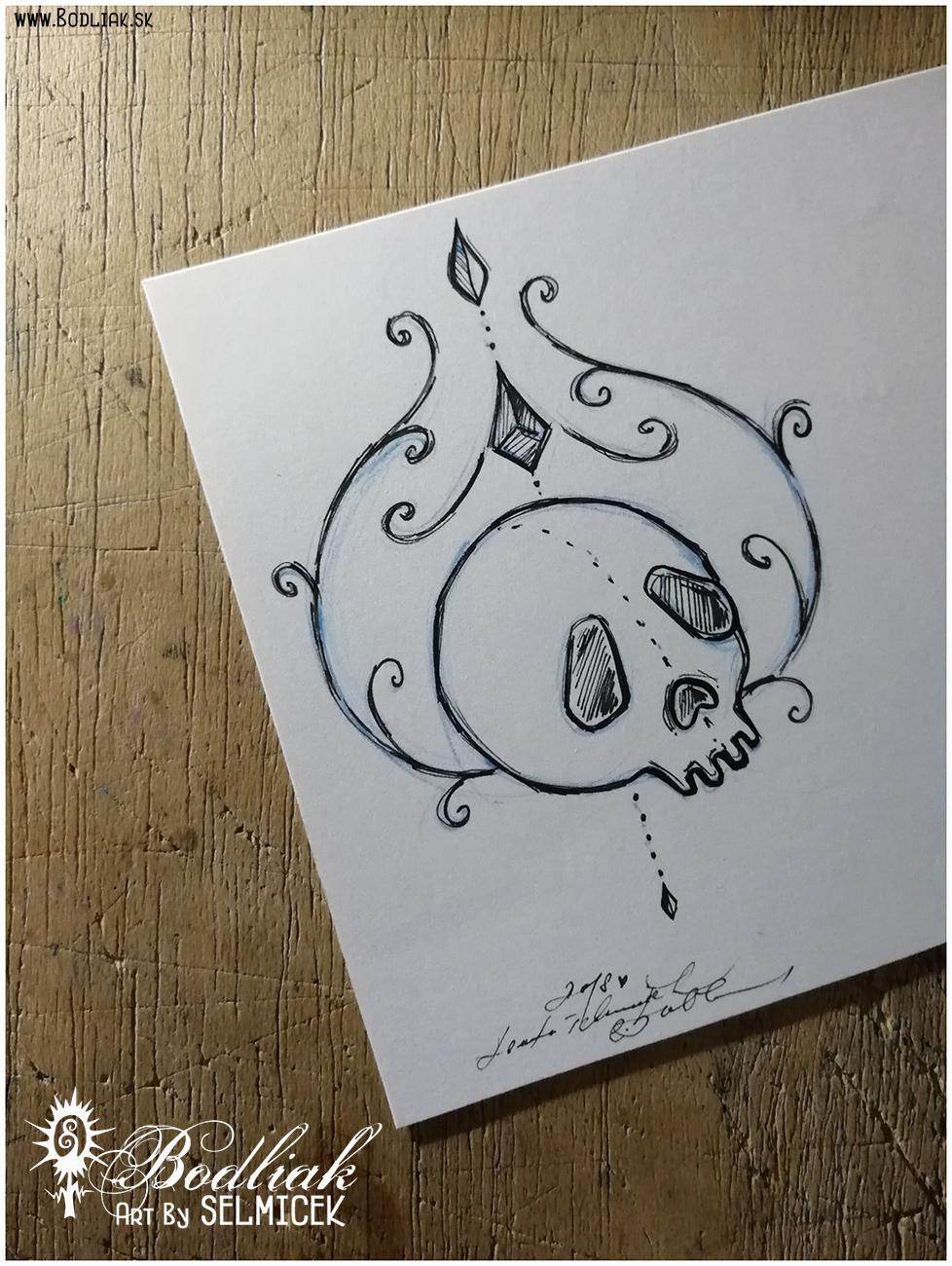 Bubák lebkový   autor: Selmicek  12cm x 9,5cm