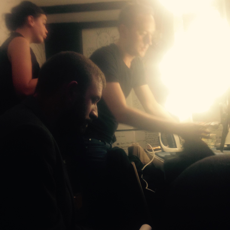 Odile Cantero, Nicolas Moitron et Adrien Knecht à 5 minutes de monter sur la scène de l'espace Gerson