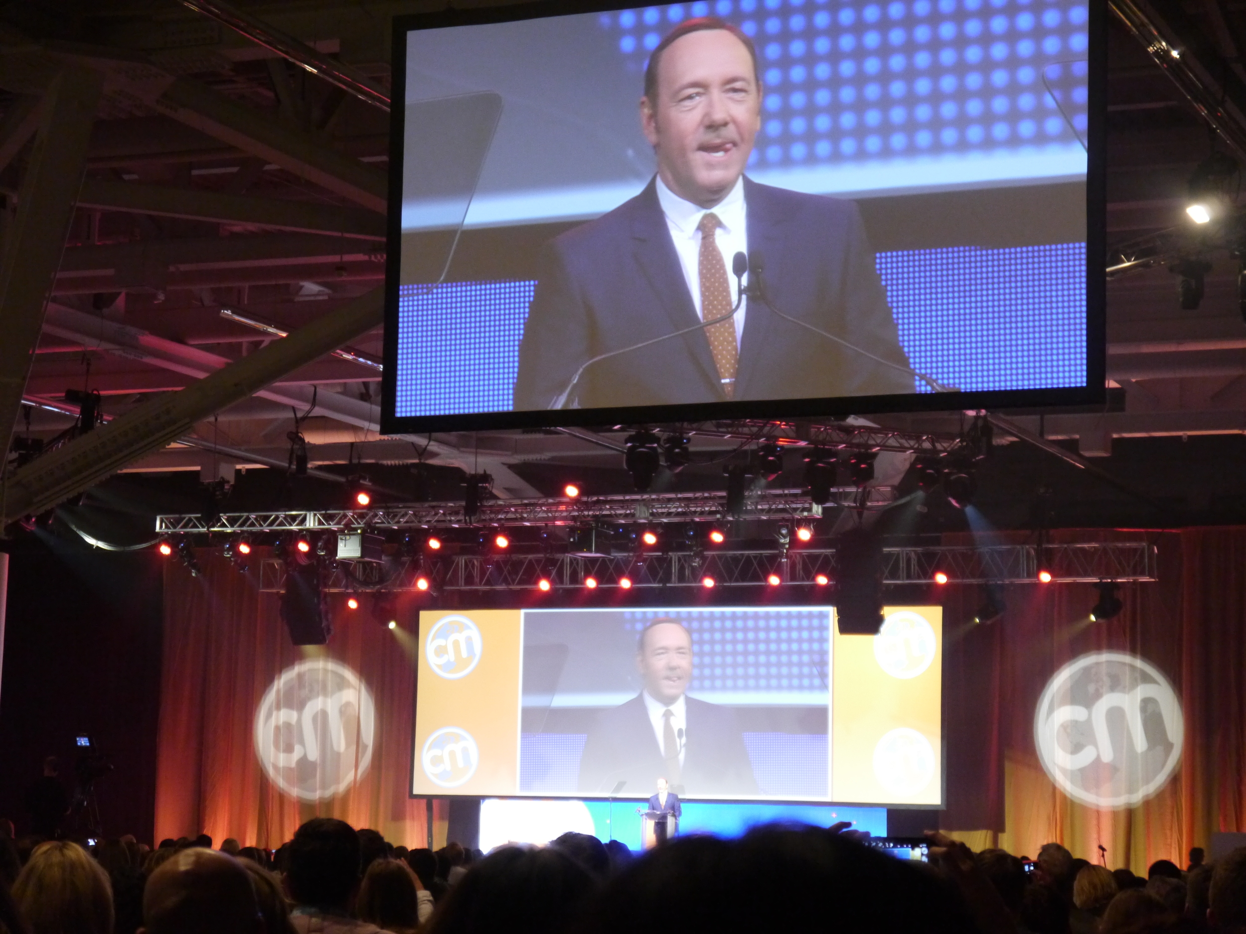 Kevin Spacey delivers a killer keynote at CMWorld2014.