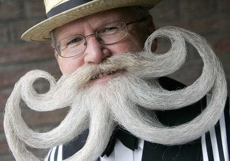 Man with Funny Mustache