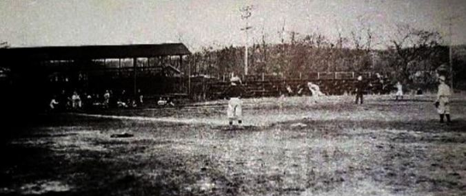 The only known photograph of the baseball field in Atlantic Highlands.