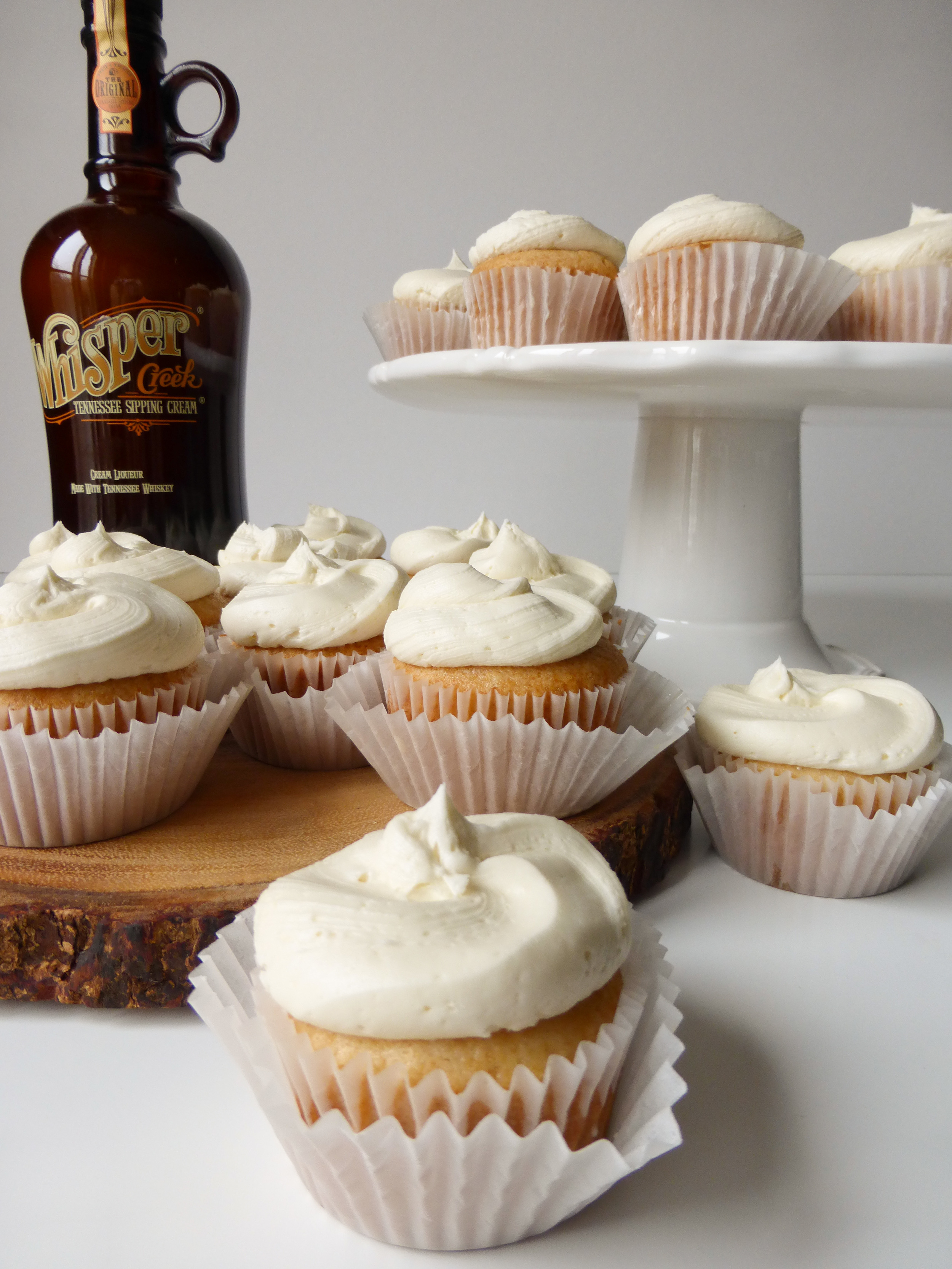 Super Simple recipe for boozy cupcakes made with Whisper Creek Tennessee Sipping Cream