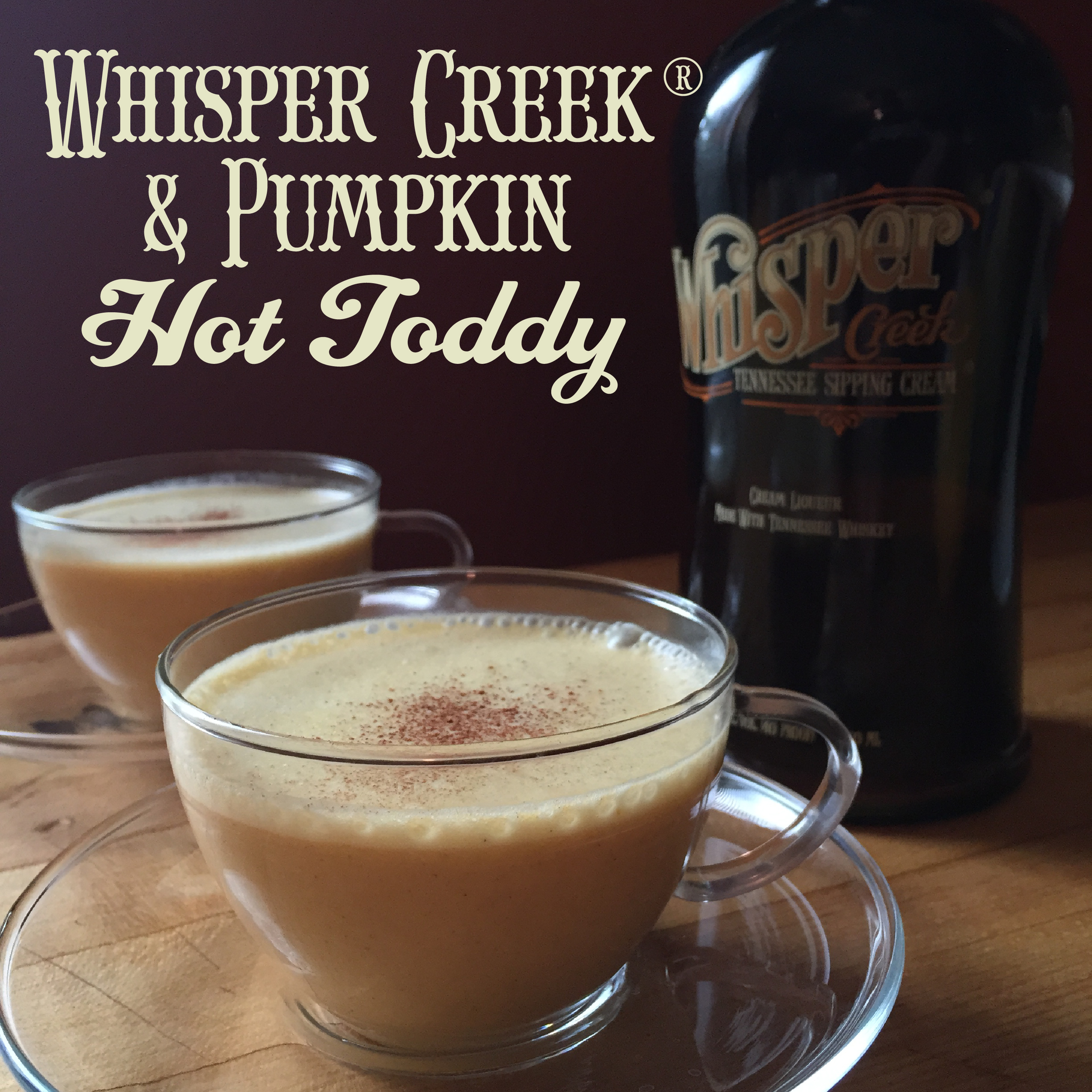 Real Pumpkin and Whisper Creek Tennessee Sipping Cream make this hot cocktail one to snuggle up on the couch with!