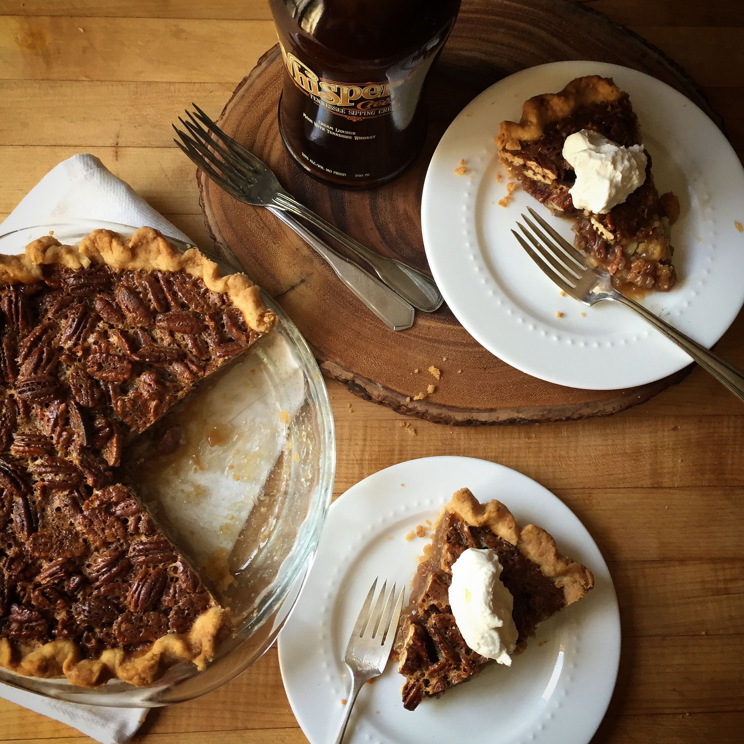 Pecan Pie made with Whisper Creek Tennessee Sipping Cream