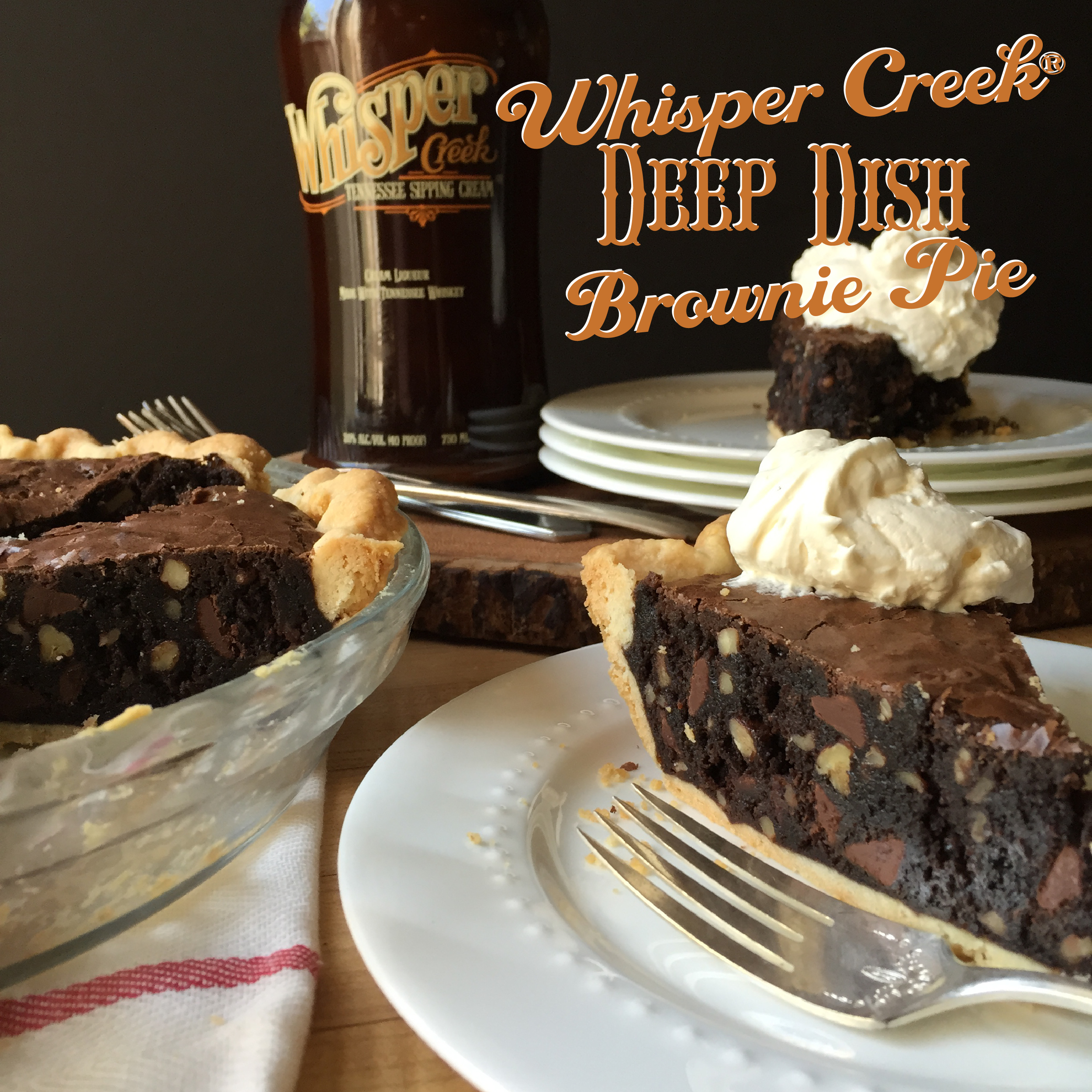 Whisper Creek Deep Dish Brownie Pie - Decadent and Delicious!!