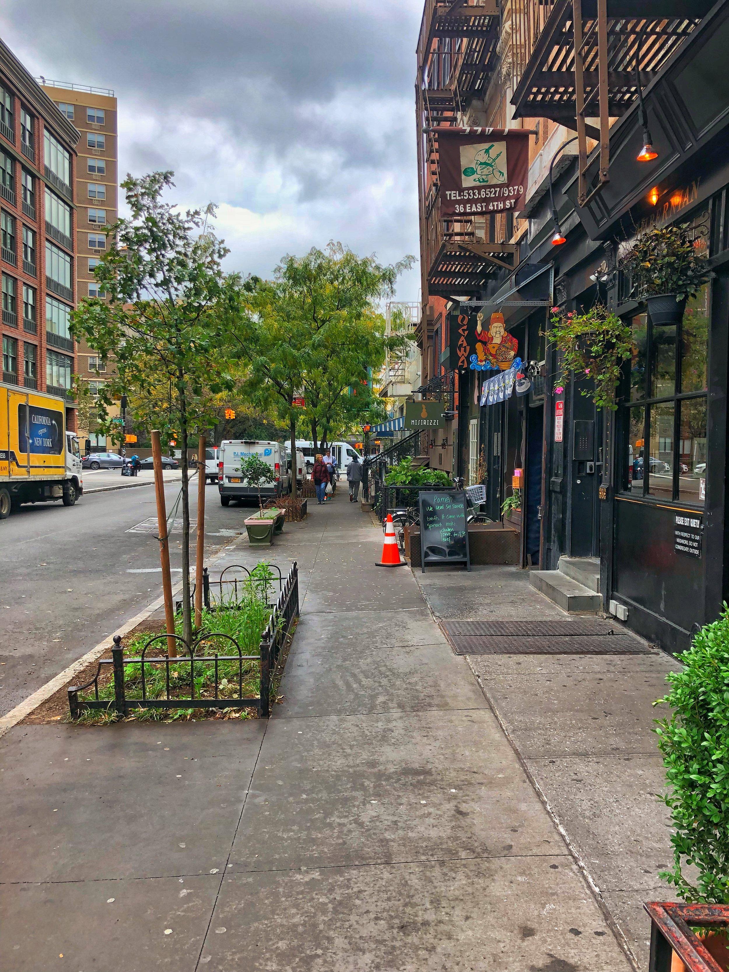 Strolling around the city