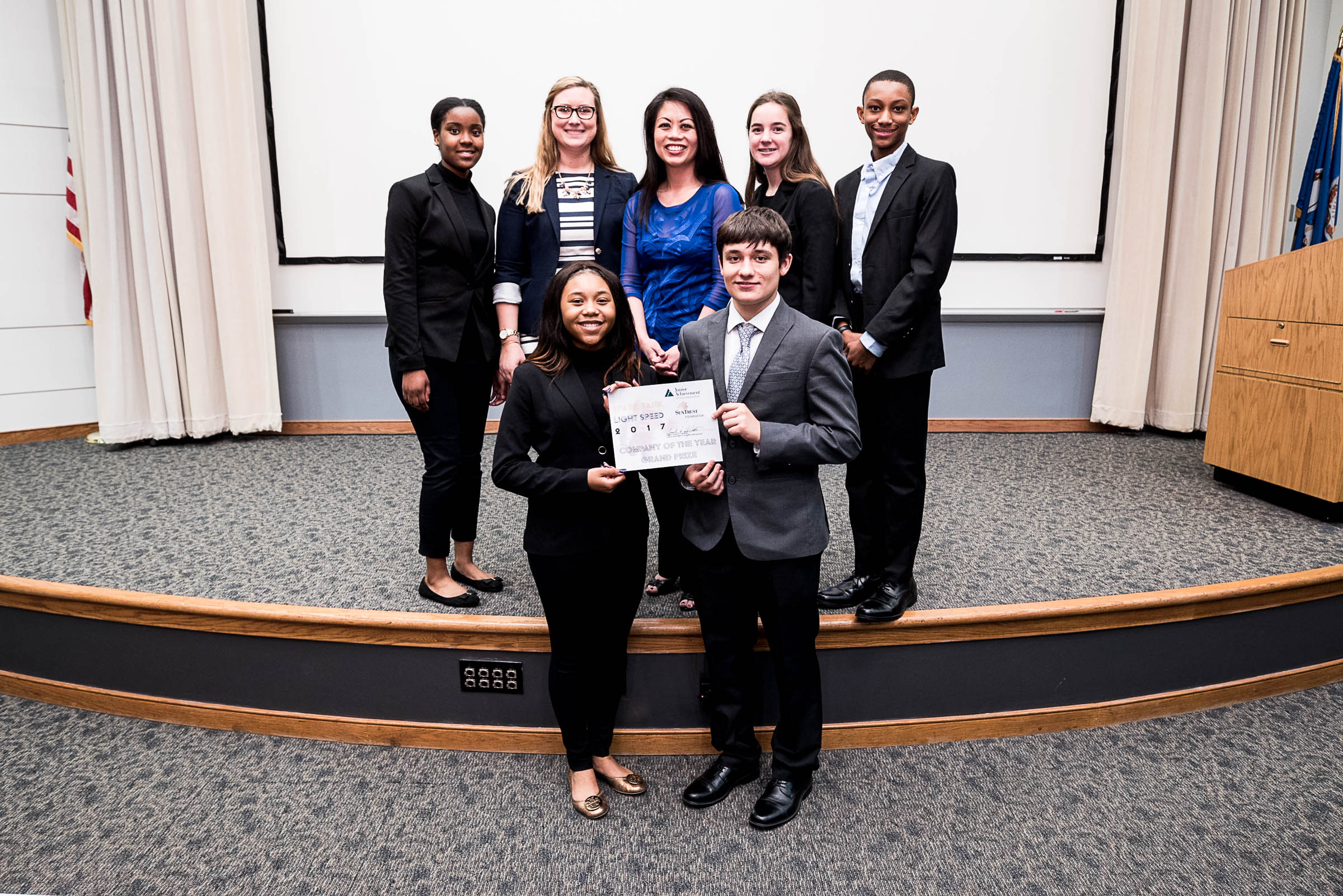 Focus360 of Kempsville Entrepreneurship and Business Academy took home top honors as JA Company of the Year (pictured with teacher Ashley Houchins and Cheryl Tan of Hampton Roads Business Weekly)!