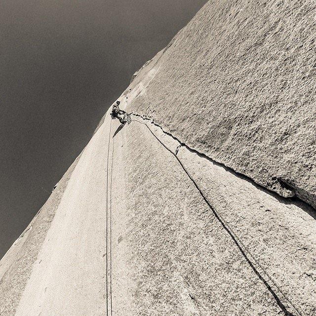 Scott Sinner and I climbingLurking Fear on El Cap in Yosemite National Park, CA