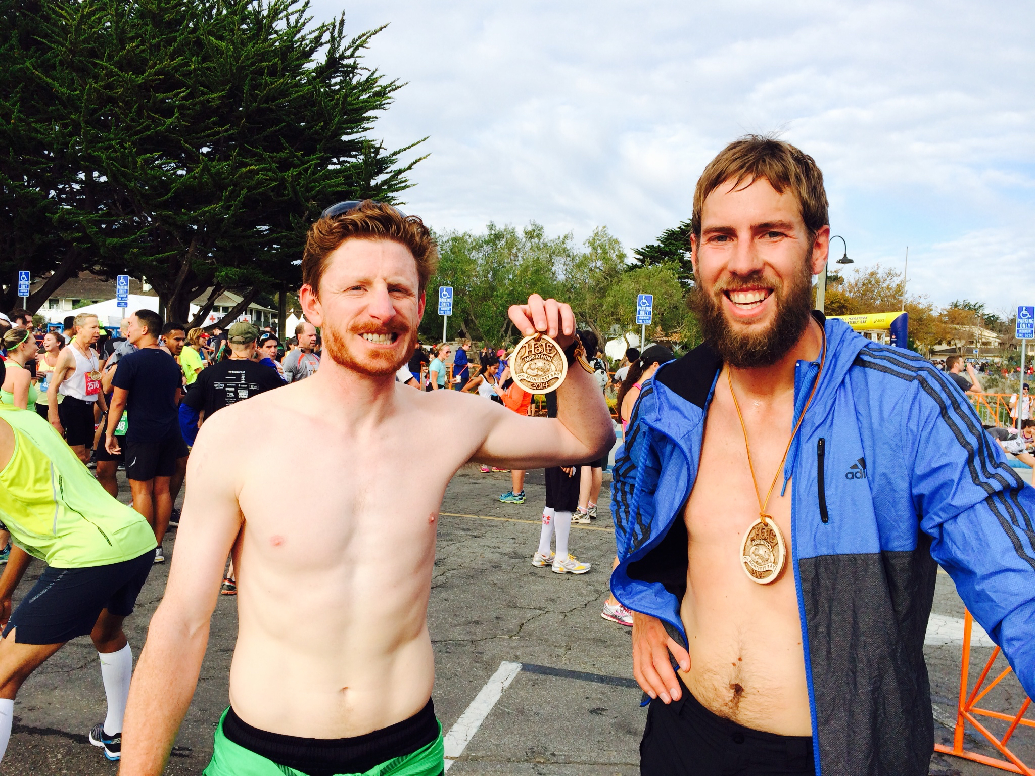 Kenny and I after finishing our first Half Marathon in Moneray Bay, CA.
