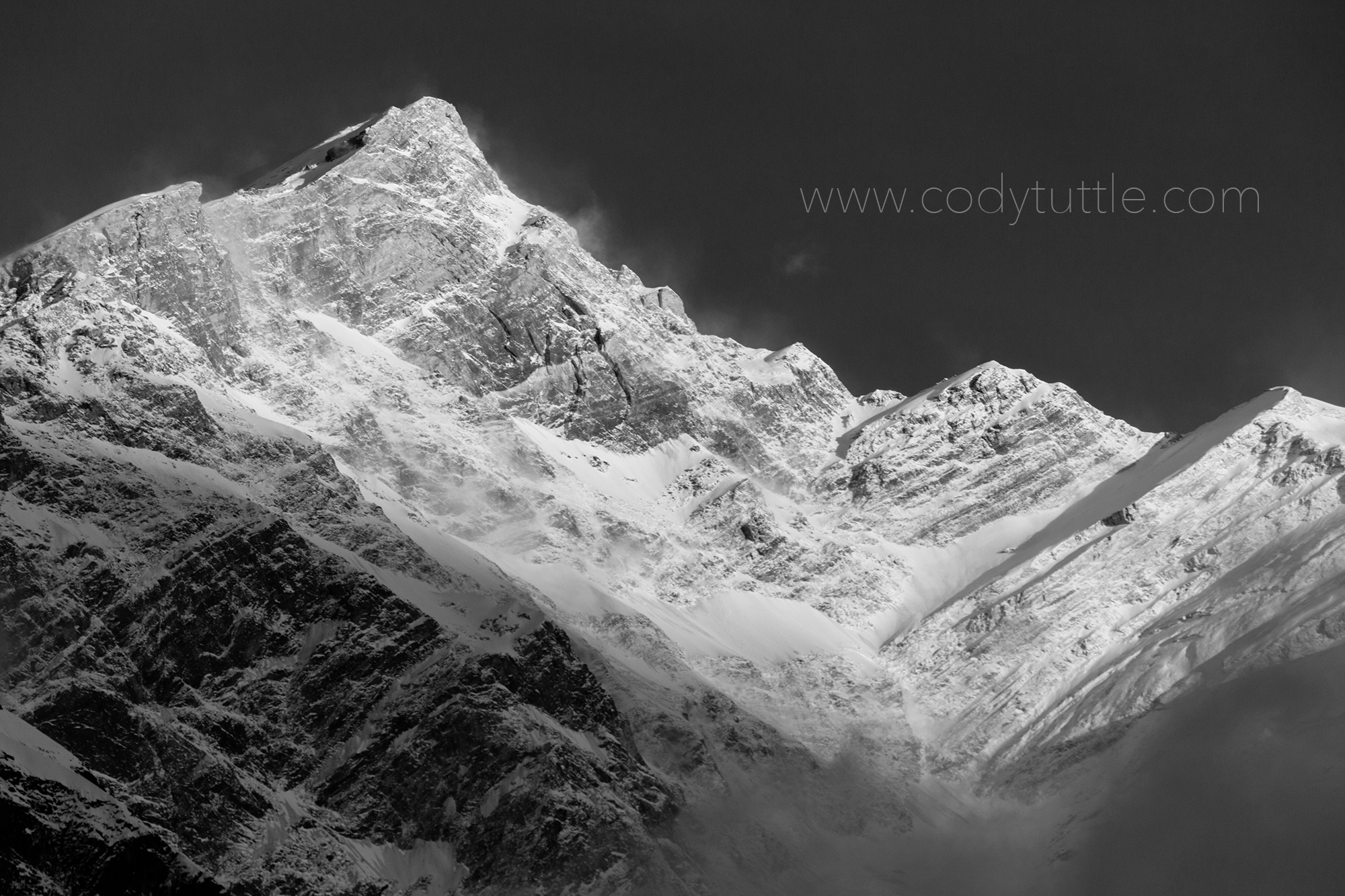 Annapurna North Face seen from basecamp. Photo: Cody Tuttle