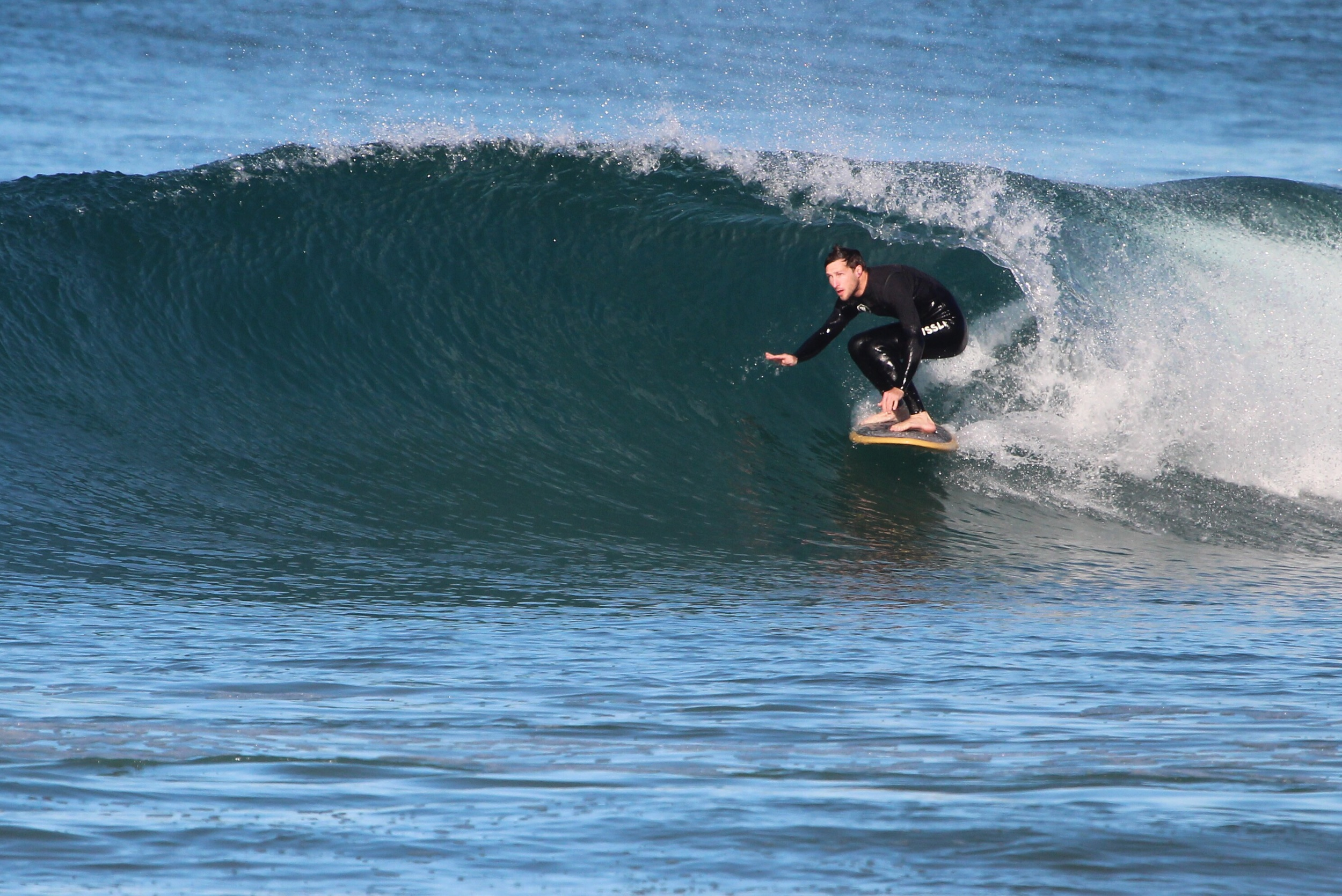 First waves always a memory. Some are worth remembering.   Photo: John O'Connor