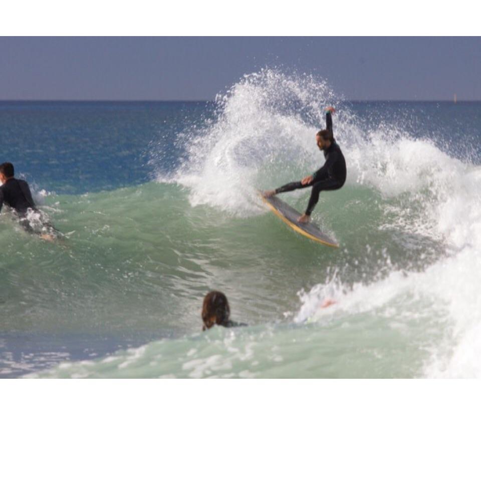 Eric Mehlberg waves right   Photo:Donald Brink