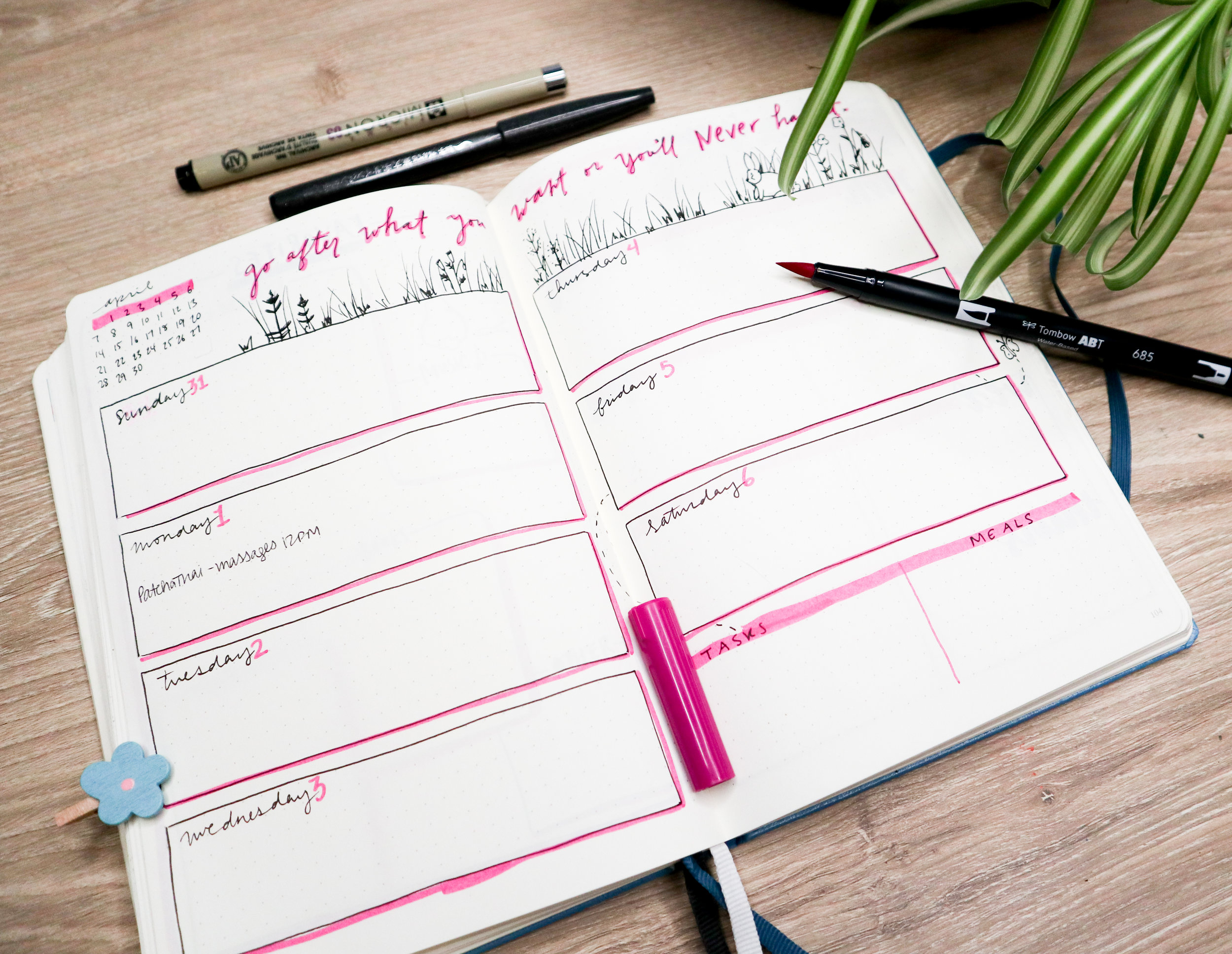 5 Weekly Spread Ideas for your bullet journal | Easy BuJo Layouts