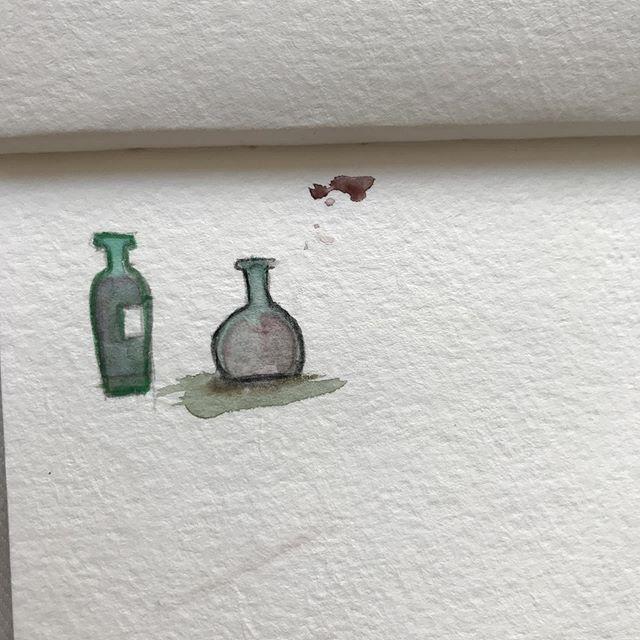 Bottle doodles in watercolor.  #doodles #watercolor #sketchy #illustration #illustratorsoninstagram #chicagoartists #chicagoartist #keephopealive #thehustleisreal #draweveryday