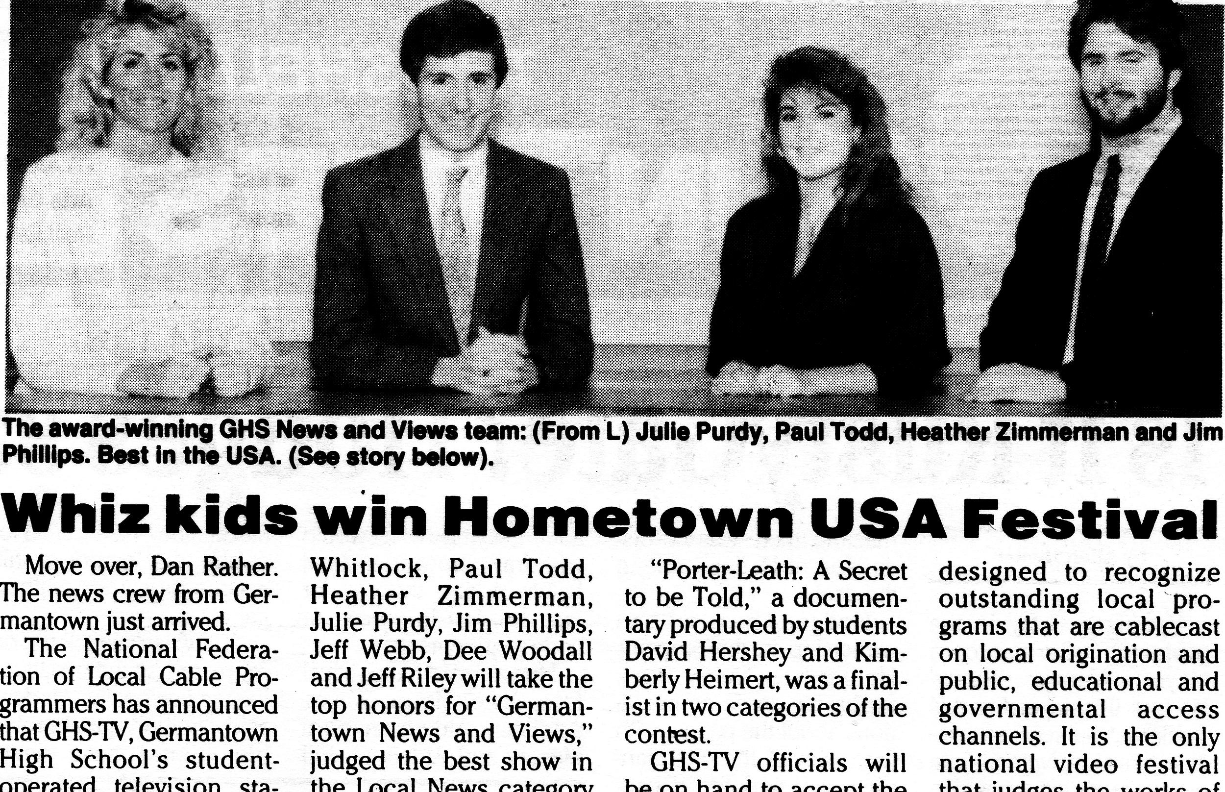 1988 ACM Hometown winners