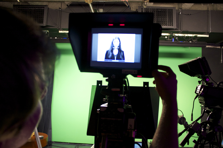Technical producer Sean Byrne oversaw the intro tapings for all the anchors. Sean and his crew will be very busy over the next 14 days. They've got two studios, eight cameras, 12 video inserts, 10 mics, hundreds of graphics and countless other details to perfect before we go live at 7 p.m. on November 4th.