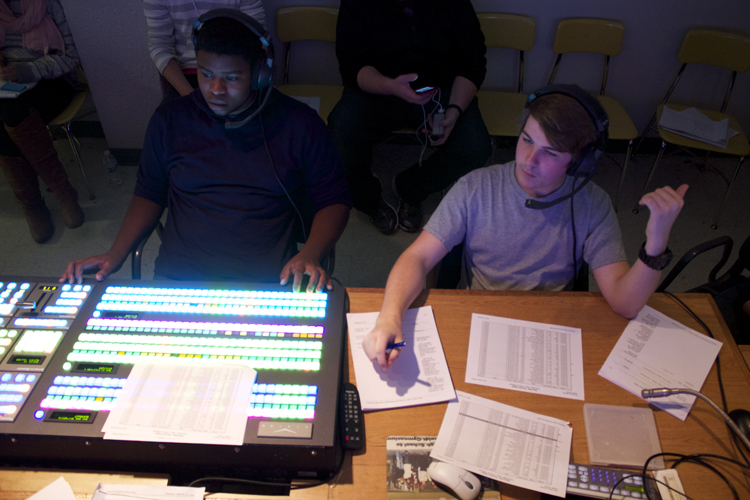 An overhead look of the show's two technical leaders.