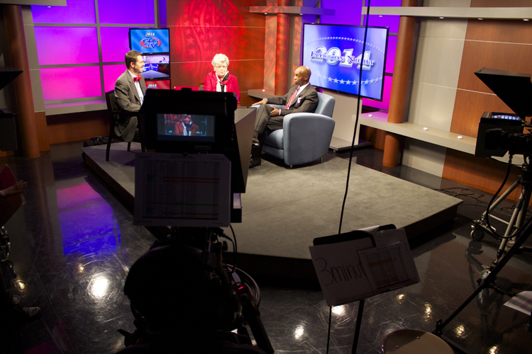 Shelby County Schools Superintendent Dorsey Hopson visited the studio to see our students in action and to talk with our political analysts.