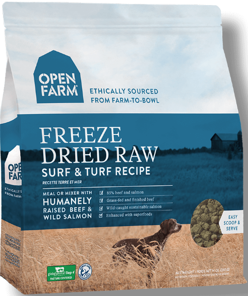 Open Farm Surf And Turf Freeze Dried Dog Food 13 5oz Jeffrey S Natural Pet Foods