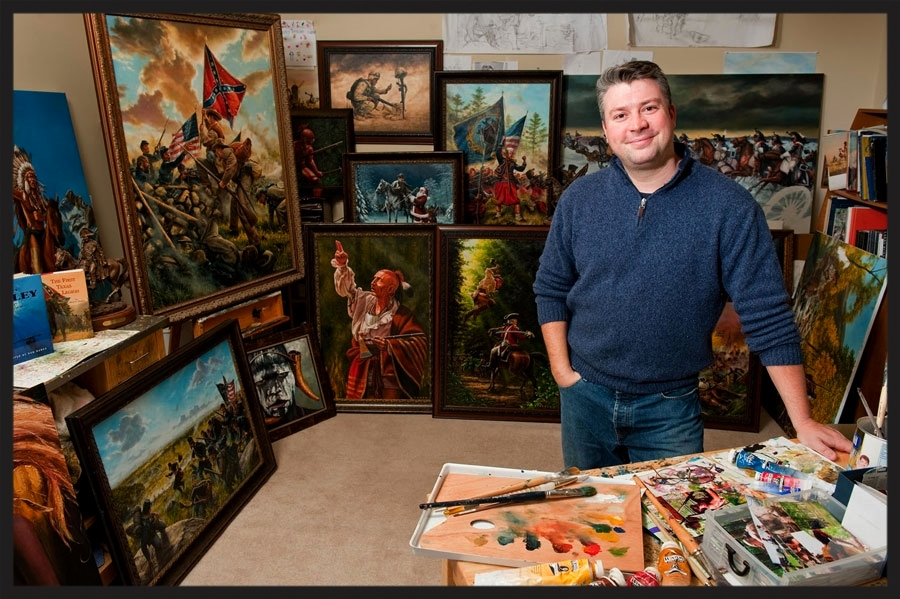 DAN NANCE in his Charlotte NC studio