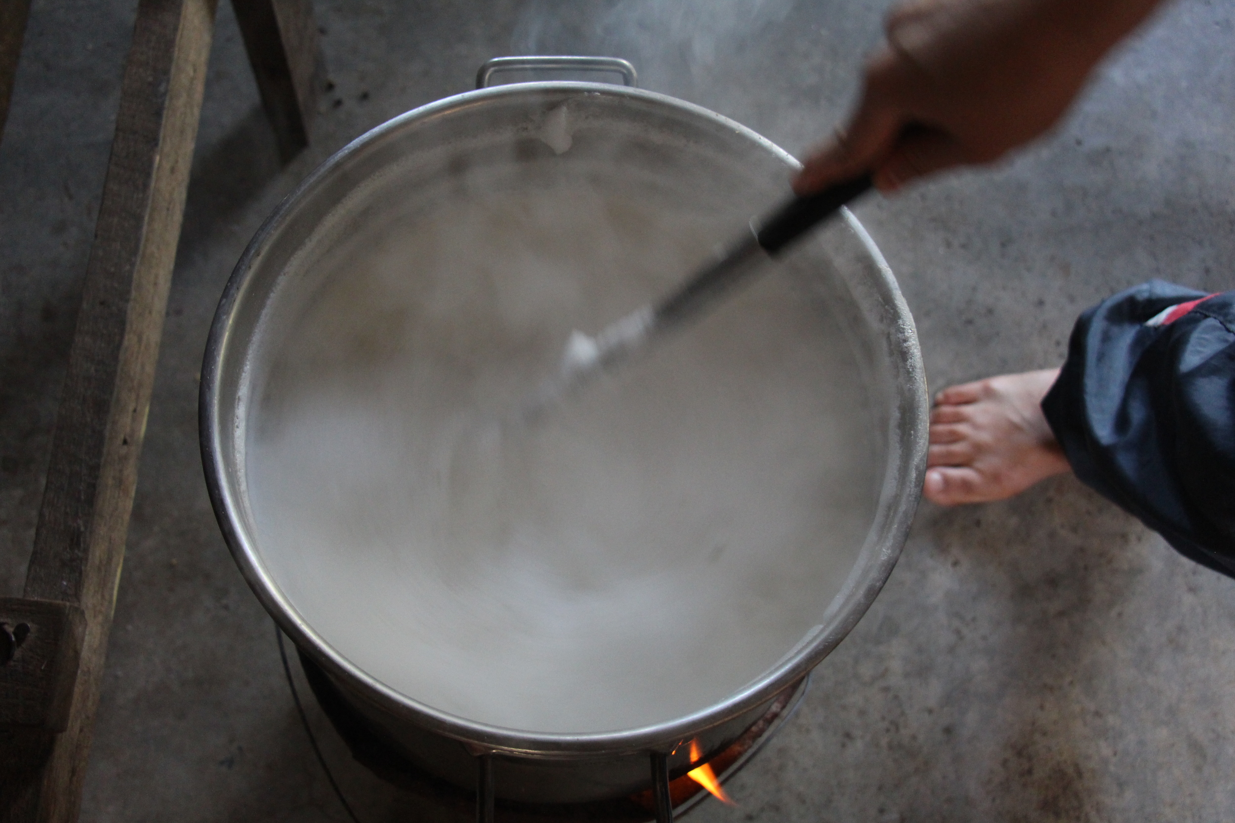 Cooking the soy milk