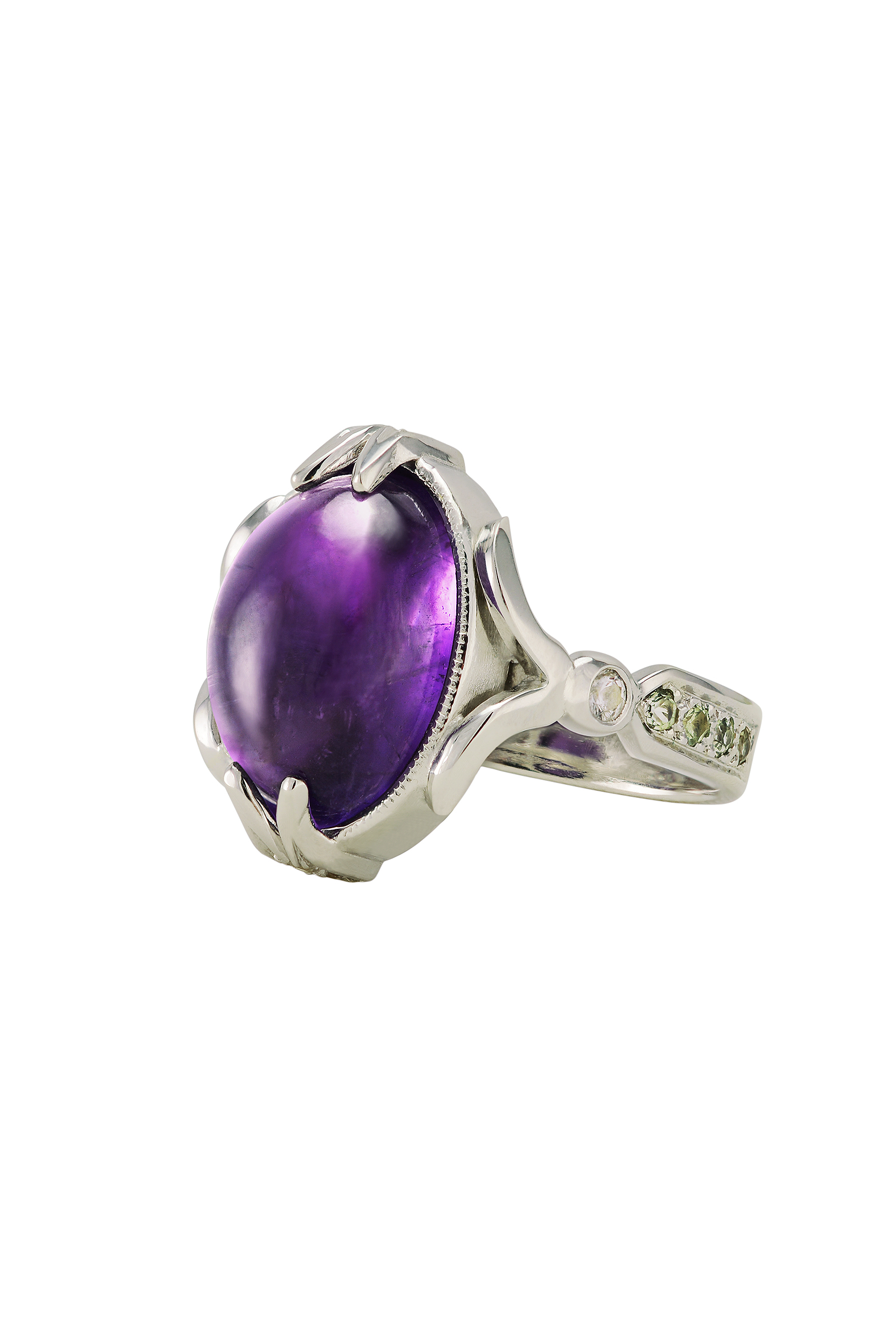 Amethyst Royal Silver Ring