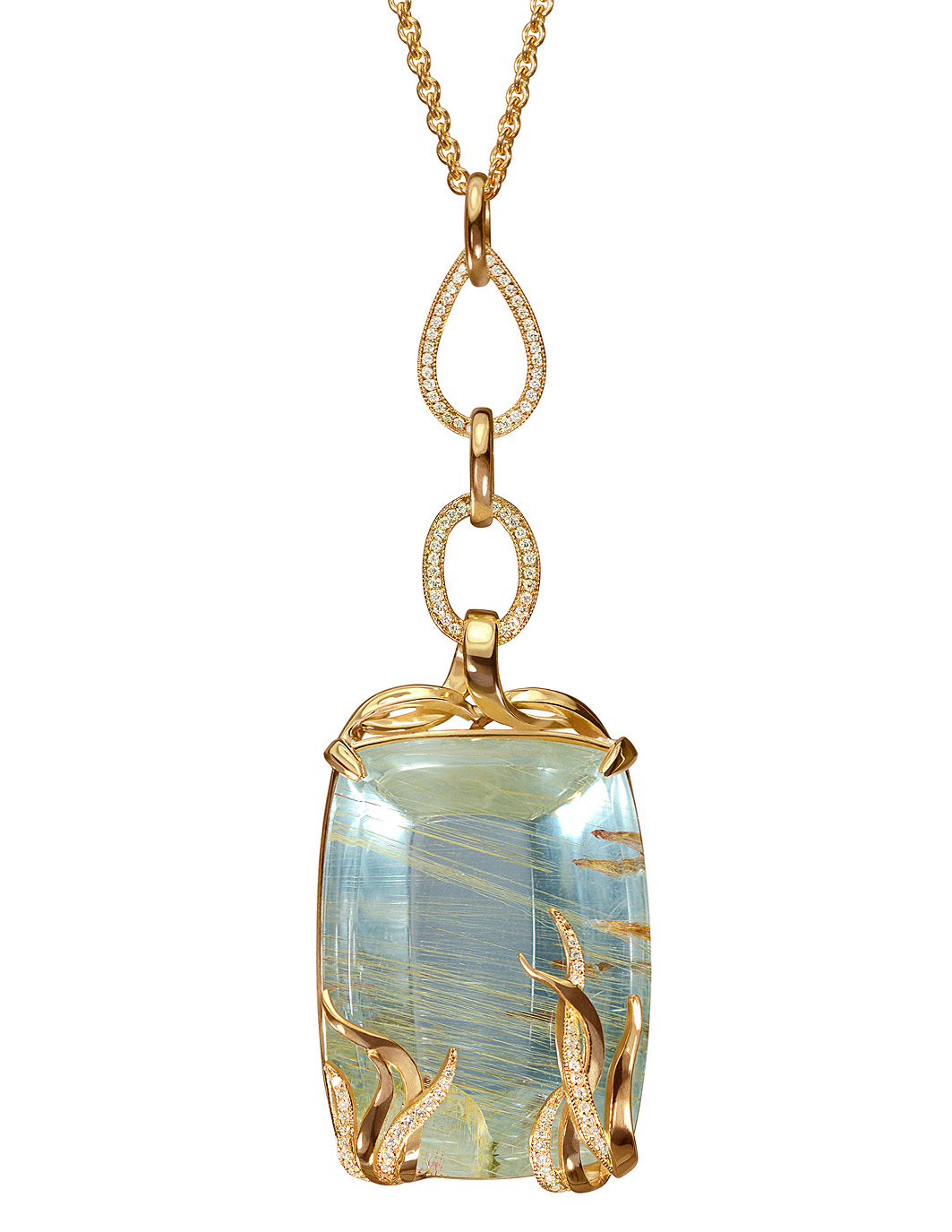 Sea Grass Blue Topaz Necklace