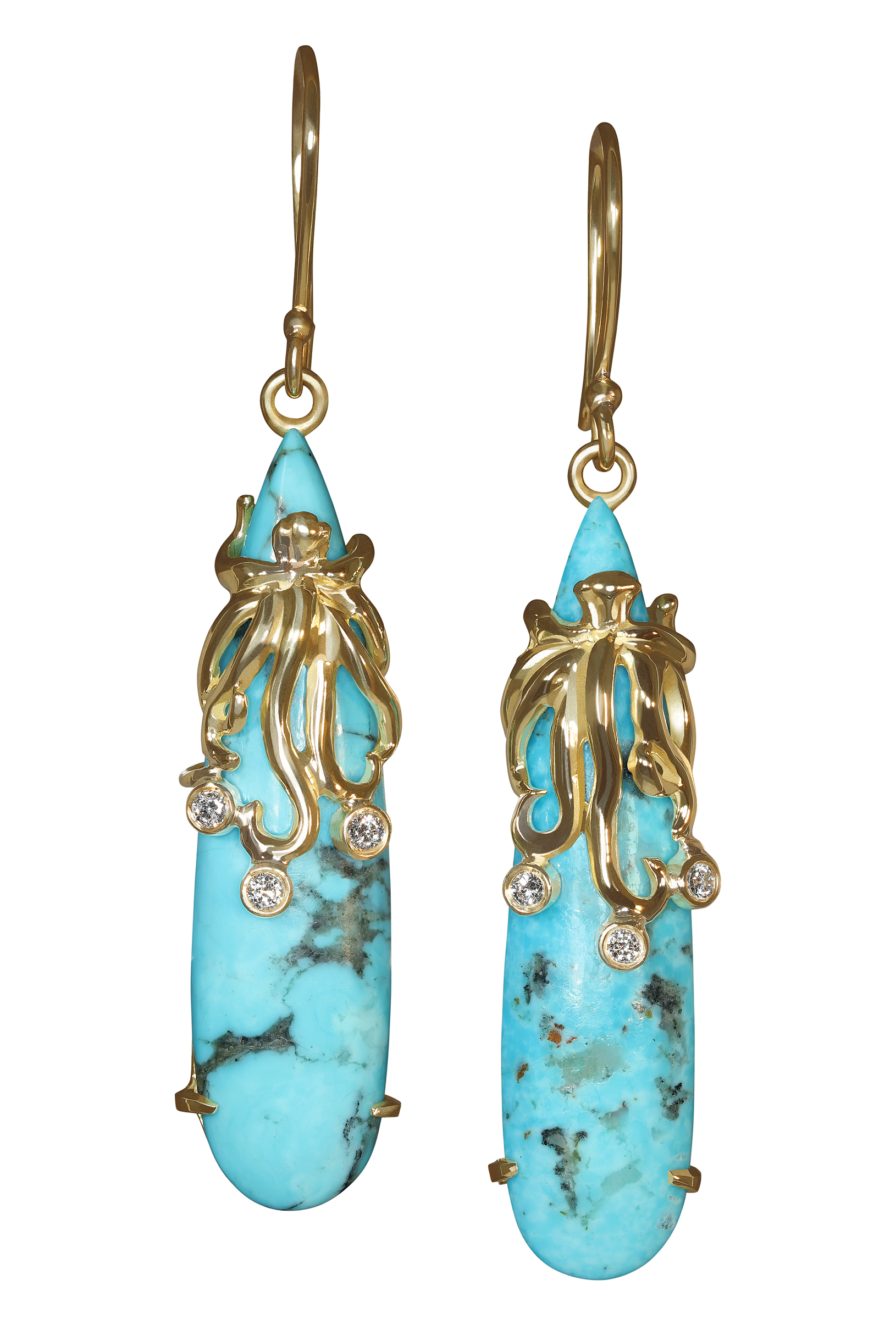Octopus Turquoise Earrings