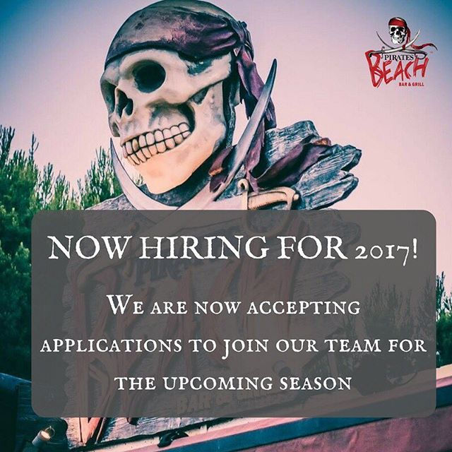 We are now taking applications to join our team for 2017!! Go to our Facebook Page for a link to the application form. #workingabroad #piratesbeachbar #magaluf #mallorca #majorca #workabroad #summerjobs #magalufworkers #workingaway #magalufjobs #workers