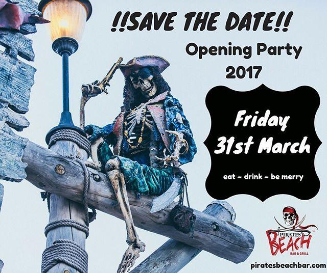 It's confirmed!!! We can't wait to see you all back again for another season! #openingparty #magaluf #magaluf2017 #maga #magalluf #piratesbeachbar #pirates #mallorca #mallorcaisland #majorca #foodies