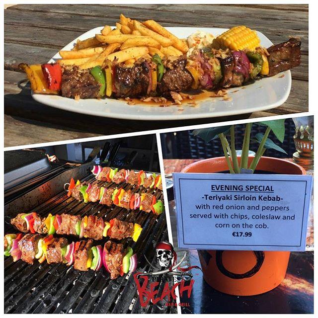 Our latest special is now available!! Teriyaki Sirloin Kebab -  get it while you can!! #magaluf #foodies #bbq #instafood #foodiesofinsta #beachbbq #foodporn #magalufbeach #mallorca #majorca #beachbar #piratesbeachbar