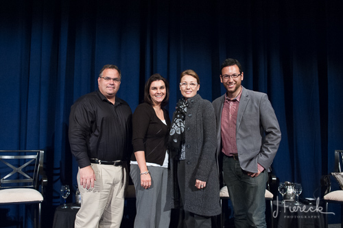 I was so honored to be in the company of these talented folks on the panel (from left to right): Rich Messina (Photo Editor of The Hartford Courant); Me; Heather Conley of Heather Conley Photography; and Nick Caito of Nick Caito Photo and The Hartford Courant). Many thanks to my Associate Photographer, Brandi Cross, for covering the event for us; to Event Resources for inviting me to be on the panel; and to The Society Room for being such gracious hosts.