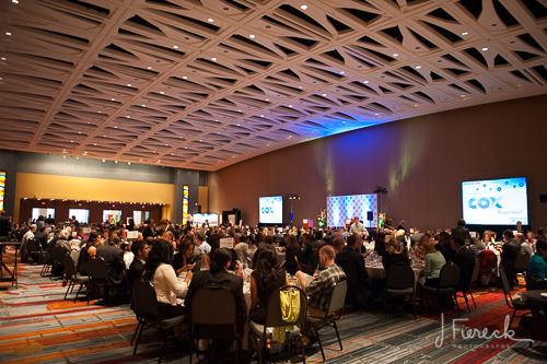 The dinner was at the CT Convention Center in Hartford.