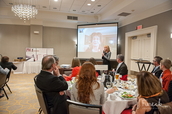 An award was presented to the founder of PWC, Lenore Janis, via FaceTime. What an accomplished and charismatic lady!