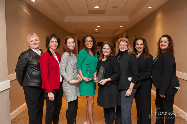 PWC's award winners pictured with the selection committee.