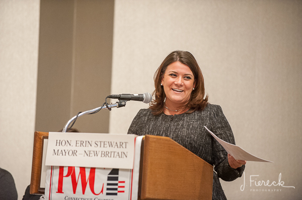 The evening included a panel discussion moderated by the Honorable Erin Stewart, Mayor of New Britain.