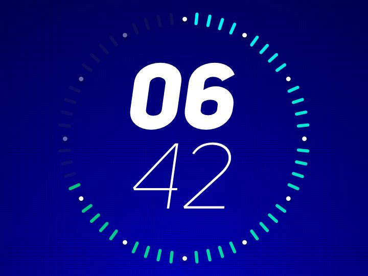 Goal progress clock