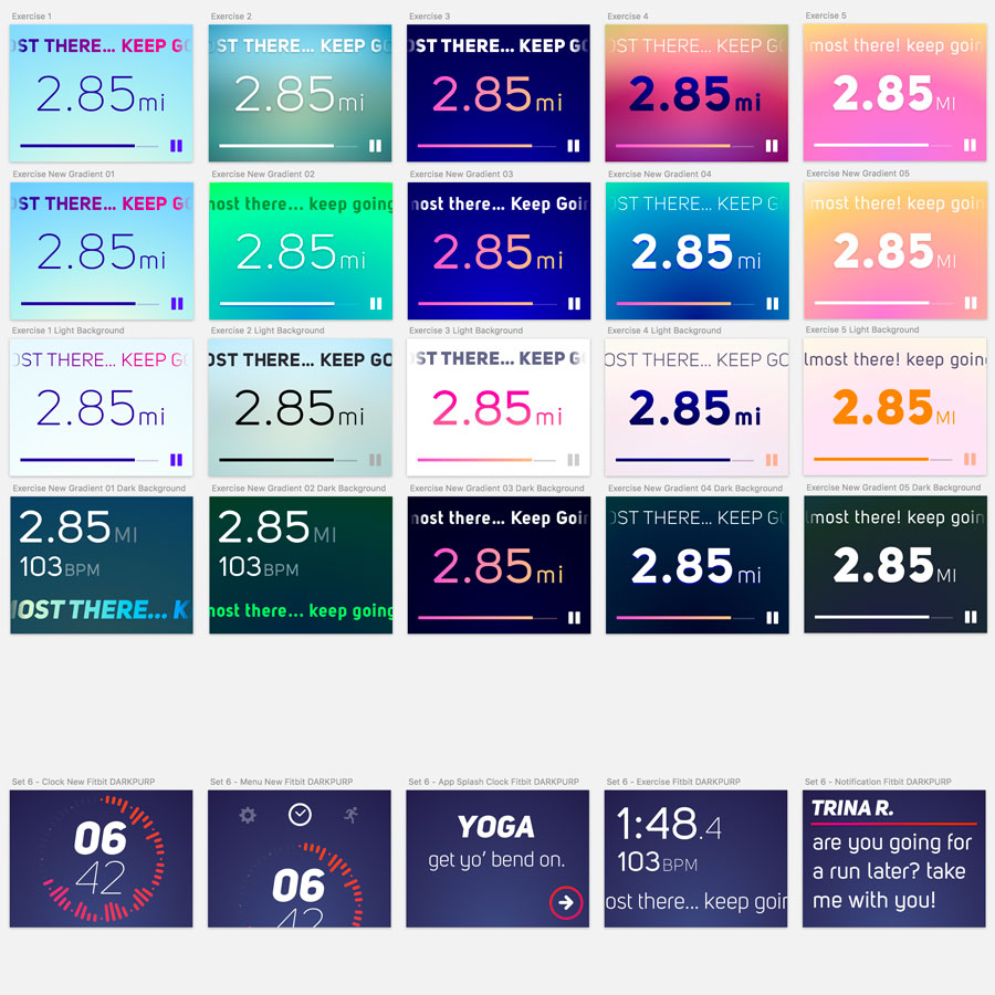 Exercise screen studies + Midnight theme