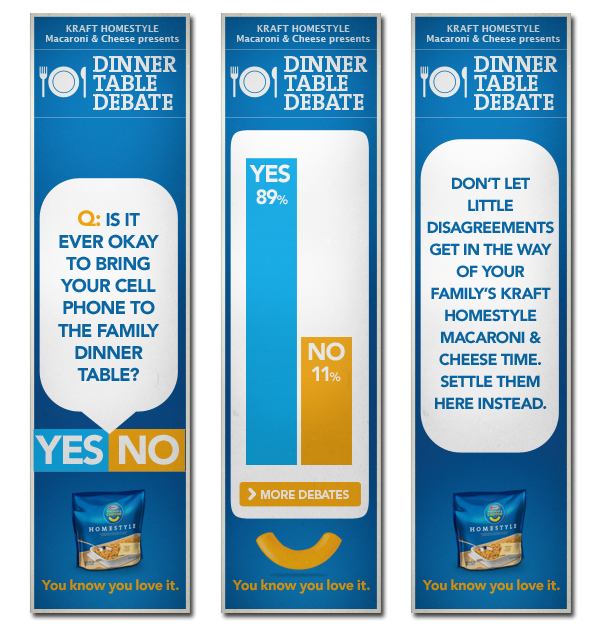 Dinner Table Debate Kraft Rich Media Banners