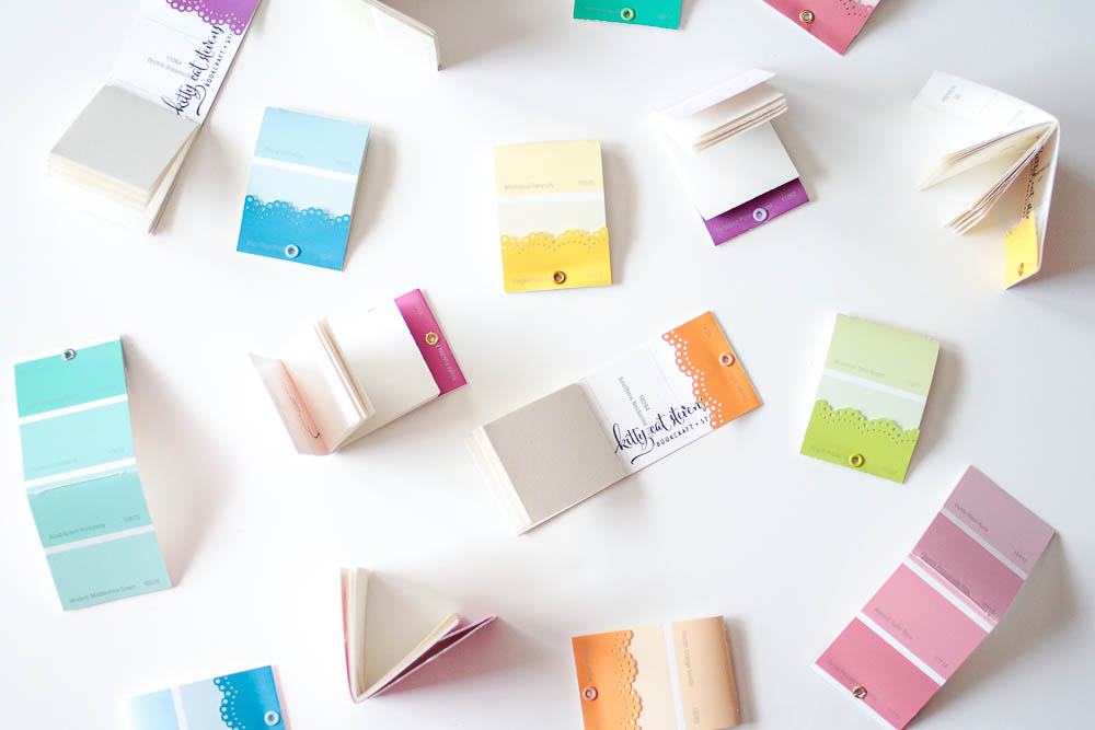 miniature paint chip matchbooks