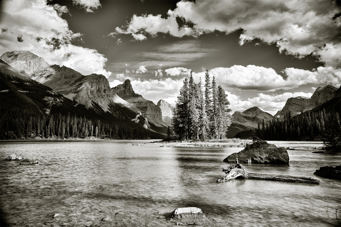 The Spirit of the Canadian Rockies, and the culmination of our canoeing efforts. (Paul Nguyen)