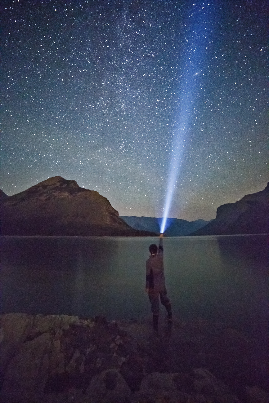 My gosh, look at all the stars! In the remote pockets of the Canadian Rockies, dark skies make for great stargazing. Ever the narcissist, Paul feels the need to insert himself into the scenery. (Paul Nguyen)