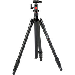 I prefer this Oben CC2441 mid-size carbon fiber tripod. It's light enough for me to be enthusiastic about carrying it everywhere, and sturdy enough to hold my camera still for my trademark low light landscape shots