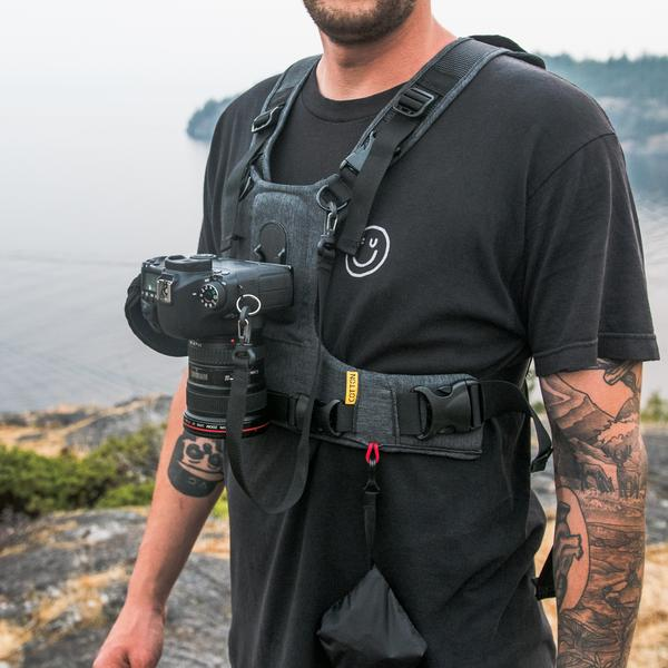 The  Cotton Carrier:  A Baby Bjorn for cameras, or an essential part of the neo-fascist photographer's arsenal?  You decide.  Camera and tattoos not included.