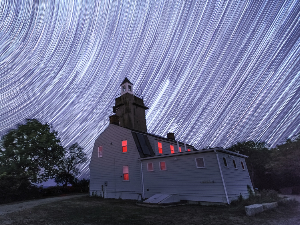 """When you face a direction other than North, the stars leave trails that are not circular. People think this is a """"meteor shower"""". The joke's on them."""