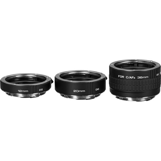 Extension tubes attach behind a normal lens and allow it to focus closer than it normally could, leading to almost-macro performance. They are stackable for cumulative effect. A lens with an extension tube attached will sacrifice long range focus in exchange for tor close-up ability.