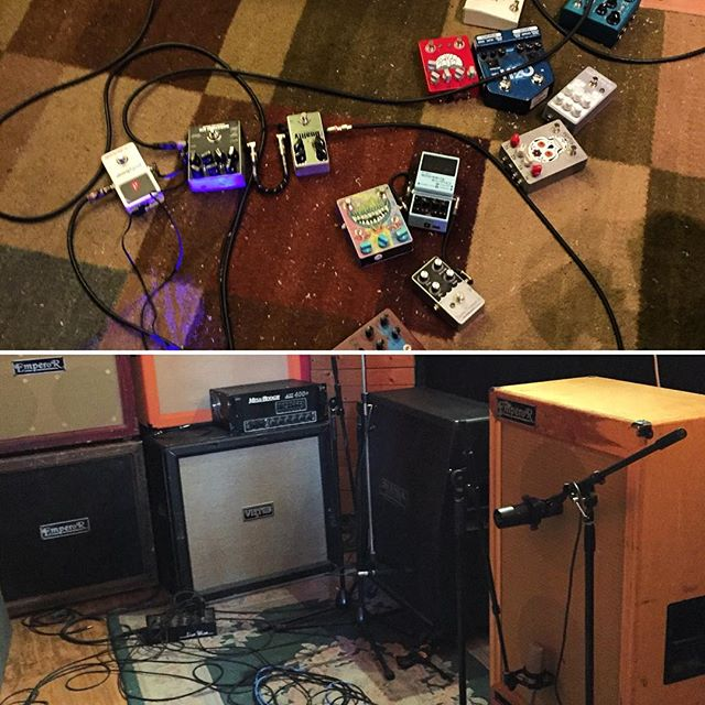 Pedal train and cabs for @exaltband 's new LP